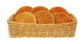 Honey Filled Wafers in Basket Stock Images