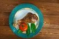 Honey garlic glazed turkey leg baked country cuisine Stock Photography