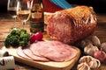 Honey Glazed Ham Royalty Free Stock Photo