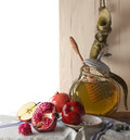 Honey Jar With Apples And Pome...