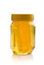 Honey in jar. Royalty Free Stock Photo