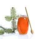 Honey jar Royalty Free Stock Photo