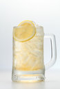 Honey lemon a glass of ice cold Royalty Free Stock Photo