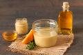 Honey mustard dressing Royalty Free Stock Photo