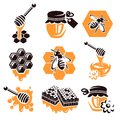 Honey set vector illustration this is file of eps format Royalty Free Stock Images