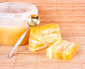 Honey soap Stock Image