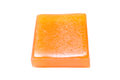 Honey soap on white background Stock Photography