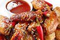 Honey Soy Chicken Royalty Free Stock Photography