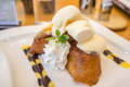 Honey toast french toast is sweet food the Stock Photography