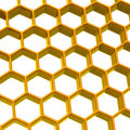Honeycomb background 3d Stock Image