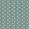 Honeycomb background. Blue colors repeated hexagon tiles wallpaper. Seamless pattern with classic geometric ornament. Royalty Free Stock Photo
