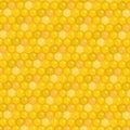 Honeycomb background. Honey texture, wallpaper. Vector illustration. Royalty Free Stock Photo