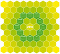 Honeycomb Calendar 2010 Stock Images