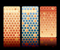 Honeycomb card Royalty Free Stock Images