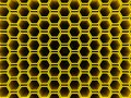 Honeycomb hollow hexagons pattern an illustration of wallpaper background Stock Images