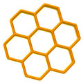 Honeycomb icon 3d Royalty Free Stock Photo