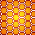 Honeycomb orange background, vector illustration Royalty Free Stock Photo