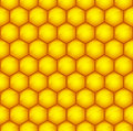 Honeycomb pattern seamless of the comb honey Royalty Free Stock Photos