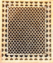 Honeycomb patterned window cover in amber fort rajasthan area india Royalty Free Stock Image