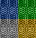 Honeycomb patterns Stock Image