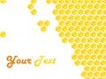 Honeycomb style frame Stock Photo