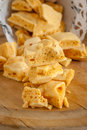 Honeycomb toffee or cinder hokey pokey sea foam known by many names and enjoyed around the world Royalty Free Stock Photo