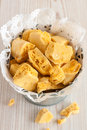Honeycomb toffee or cinder hokey pokey sea foam known by many names and enjoyed around the world Stock Images