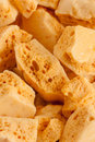 Honeycomb toffee or cinder hokey pokey sea foam known by many names and enjoyed around the world Royalty Free Stock Photography