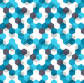 Honeycomb vector background. Seamless pattern of blue, white and black color for medical presentation. Modern geometric