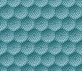Honeycomb vector background. Seamless pattern with colored circles and dots. Geometric industrial texture, ornament of