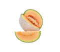 Honeydew melon a juicy melon a juicy honeydew melon from japan o on white background shot in studio Stock Images