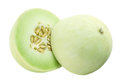 Honeydew melon on white background Royalty Free Stock Photo