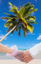 Honeymoon at beauty beach couple in thailand Royalty Free Stock Photo