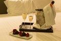 Honeymoon concept hotel room shot Royalty Free Stock Photo