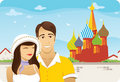 Honeymoon in Moscow Royalty Free Stock Photo