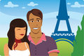 Honeymoon in Paris Stock Photo
