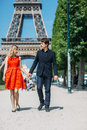 Honeymoon in paris. Royalty Free Stock Photo