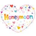 Honeymoon unique decorative lettering