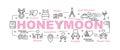 Honeymoon vector banner