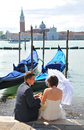Honeymoon in Venice Royalty Free Stock Photo