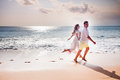 Honeymooners couple just married Royalty Free Stock Photo