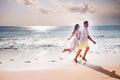 Honeymooners couple just married Royalty Free Stock Photo