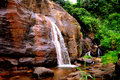 Honeymooners' Waterfall in Sri Lanka Royalty Free Stock Images