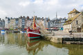 Honfleur france feb view on the old harbor of calvados france on february this town is a famous sight of normandy and Stock Images