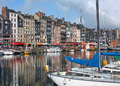 Honfleur harbour in Normandy. France. Royalty Free Stock Photo