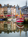 Honfleur Harbour Royalty Free Stock Photo