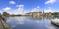 Honfleur the old port and harbour in normandy france Stock Photography