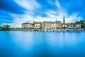Honfleur skyline harbor and water reflection normandy france famous village europe long exposure Stock Photo