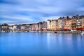 Honfleur skyline harbor and water reflection normandy france famous village la claire europe long exposure Royalty Free Stock Photo