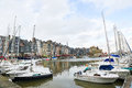 Honfleur view on the old harbor of calvados france on february this town is a famous sight of normandy and known for its Stock Photos